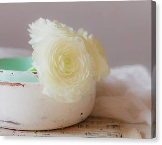 Canvas Print featuring the photograph In A White Bowl by Kim Hojnacki
