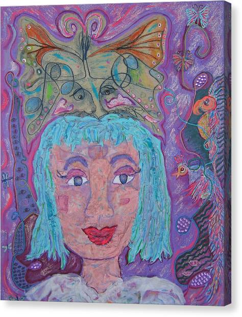 In Her Eyes Canvas Print by Marlene Robbins