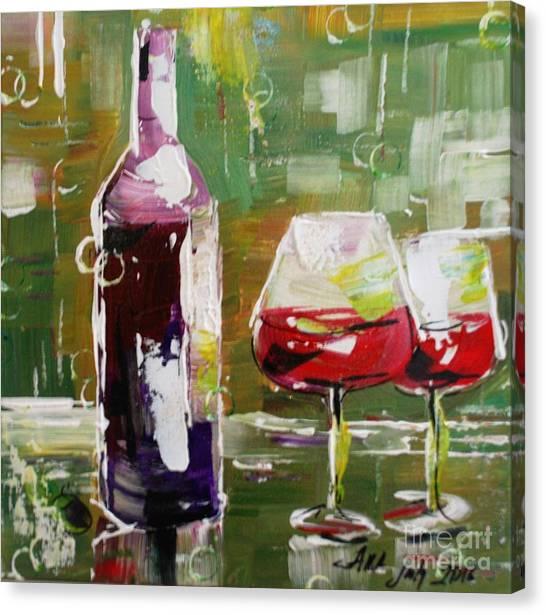 In Vino Veritas. Wine Collection Canvas Print
