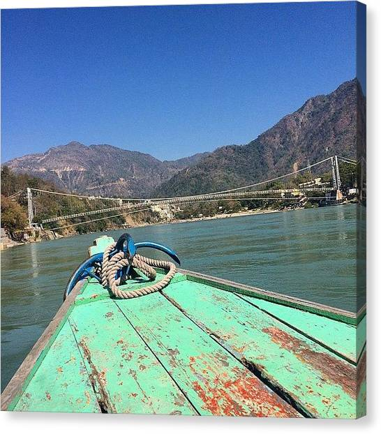Ganges Canvas Print - #india #rishikesh #southeastasia #asia by Gary J Carroll