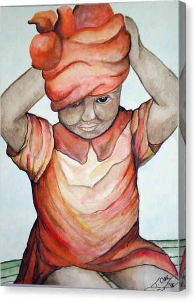 Indian Girl Canvas Print by Tammera Malicki-Wong