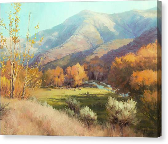Indians Canvas Print - Indian Summer by Steve Henderson