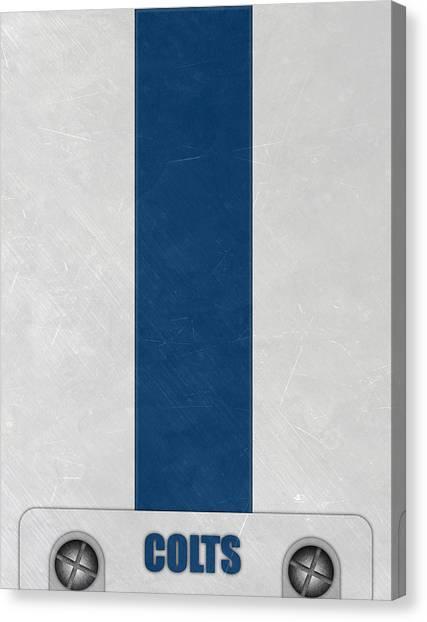 Indianapolis Colts Canvas Print - Indianapolis Colts Helmet Art by Joe Hamilton