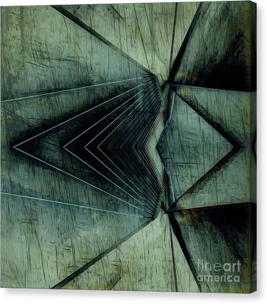 Industrial Bridge Grey Canvas Print