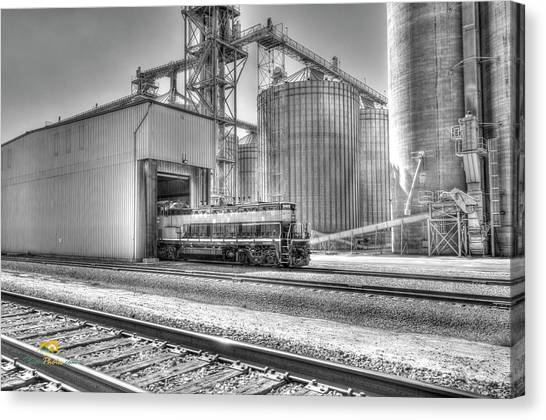 Canvas Print featuring the photograph Industrial Switcher 5405 by Jim Thompson