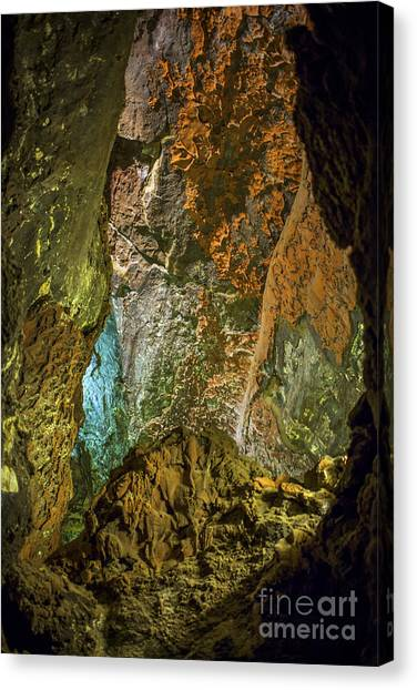 Stalagmites Canvas Print - Inside A Cave by Patricia Hofmeester
