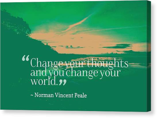 Trustworthy Canvas Print - Inspirational Timeless Quotes - Norman Vincent Peale by Adam Asar