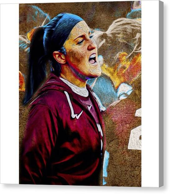 Soccer Canvas Print - #instajags #instaiupui @iupui by David Haskett II