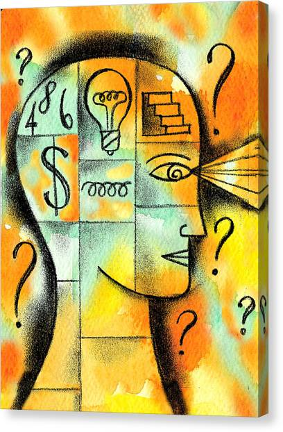 Careers Canvas Print - Knowledge And Idea by Leon Zernitsky