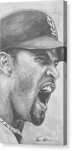 Los Angeles Angels Canvas Print - Intensity Pujols by Tamir Barkan