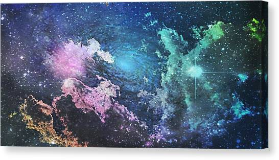Outer Space Canvas Print - Into The Great Wide Open by Kimberly  W