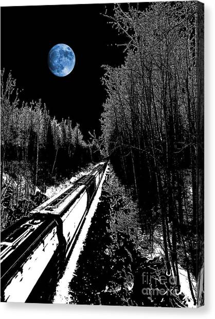 Thomas The Train Canvas Print - Into The Night Blues by The Stone Age