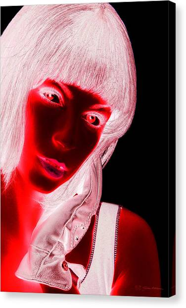 Pop Art Canvas Print - Inverted Realities - Red  by Serge Averbukh