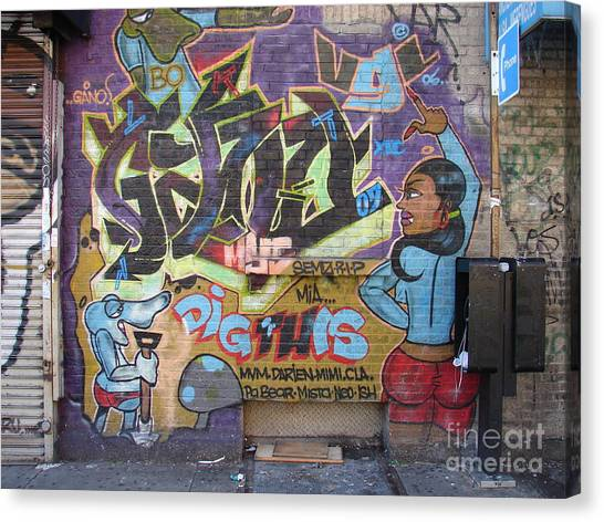Inwood Graffiti  Canvas Print