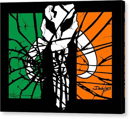Irish Mandalorian Flag Canvas Print