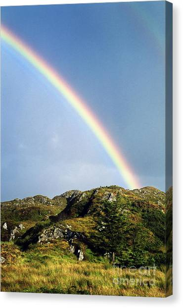 Rainbows Canvas Print - Irish Rainbow by John Greim