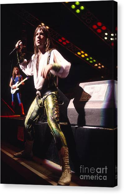 Iron Maiden 1987 Bruce Dickinson Canvas Print by Chris Walter