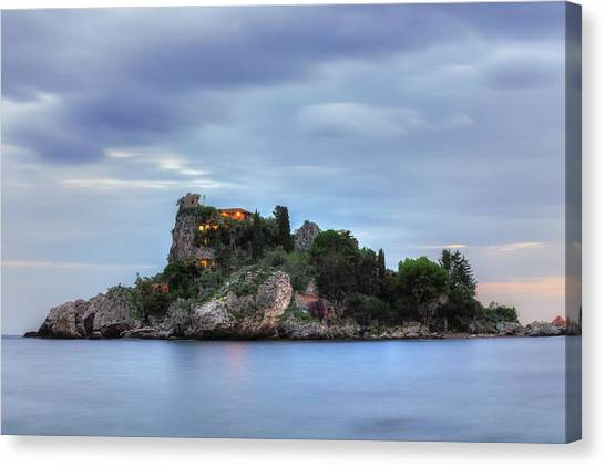 Taormina Canvas Print - Isola Bella - Sicily by Joana Kruse