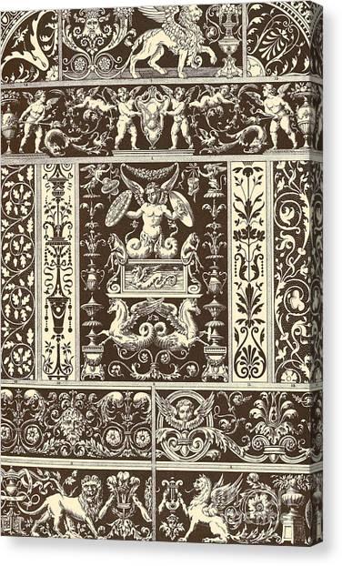 Griffons Canvas Print - Italian Renaissance by Italian School