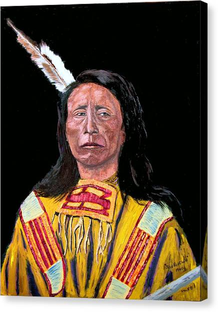 Jack Red Cloud Canvas Print by Stan Hamilton