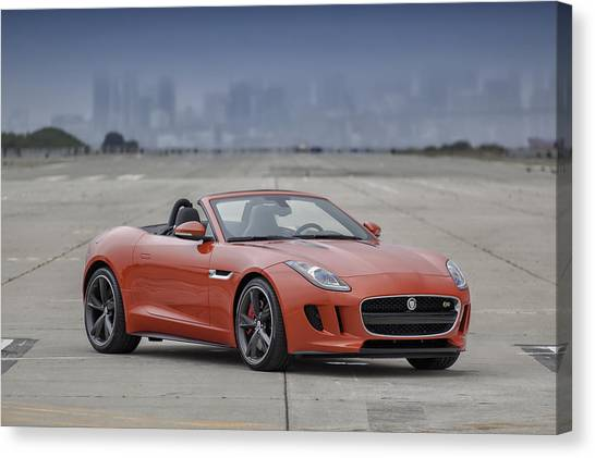 Jaguar F-type Convertible Canvas Print