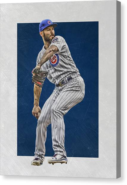 Chicago Cubs Canvas Print - Jake Arrieta Chicago Cubs Art by Joe Hamilton