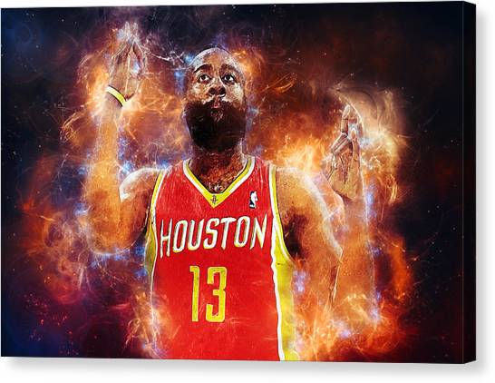 Dwight Howard Canvas Print - James Harden by Zapista