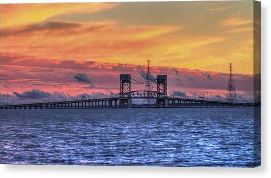 James River Bridge Canvas Print