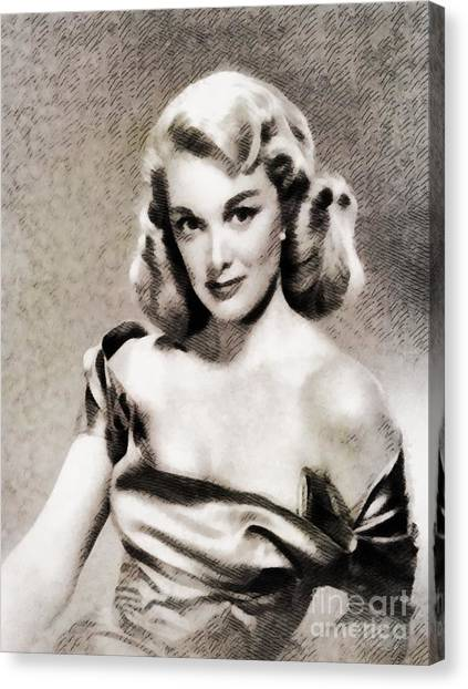 Sterling Silver Canvas Print - Jan Sterling, Vintage Actress by John Springfield