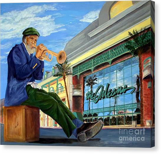 Jazz At The Orleans Canvas Print