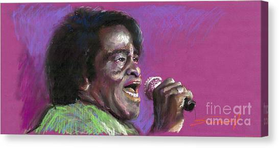 Brown Canvas Print - Jazz. James Brown. by Yuriy Shevchuk