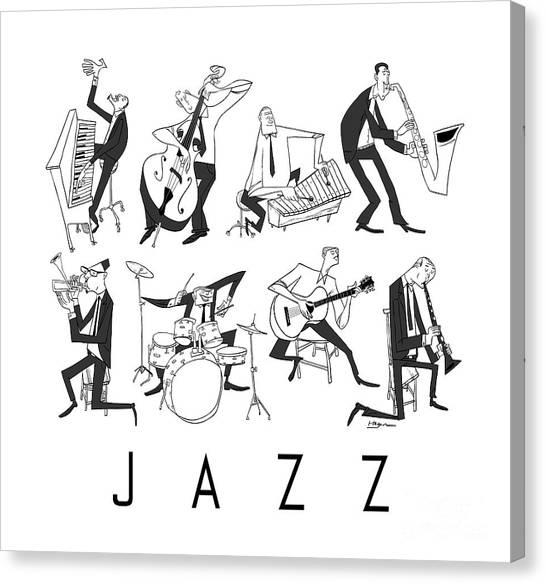 Mardi Gras Canvas Print - Jazz by Sean Hagan