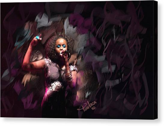 Jc Lady Sing Lady Sing Canvas Print by Donald Pavlica