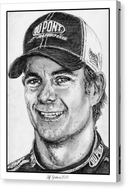 Daytona 500 Canvas Print - Jeff Gordon In 2010 by J McCombie