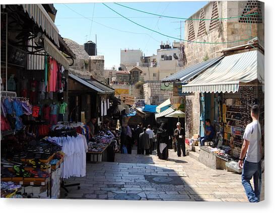 The Old City Of Jerusalem 1 Canvas Print