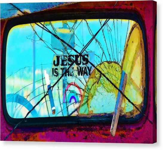 Jesus Is The Way Canvas Print