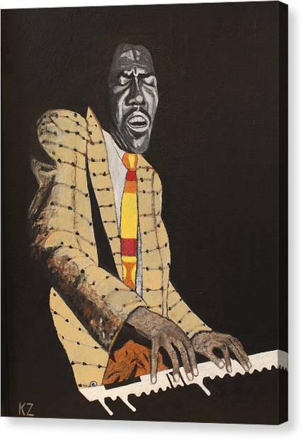 Jimmy Smith.king Of The Jazz Hammond B-3. Canvas Print