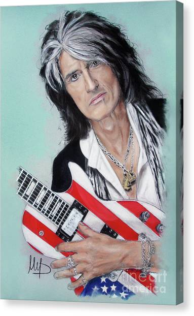 Aerosmith Canvas Print - Joe Perry by Melanie D