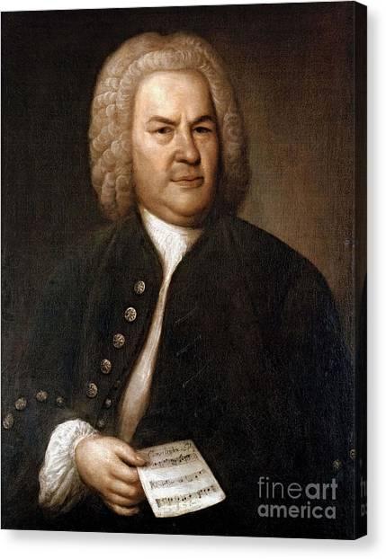 Baroque Art Canvas Print - Johann Sebastian Bach, German Baroque by Photo Researchers