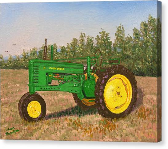John Deere Model B Canvas Print by Stan Hamilton