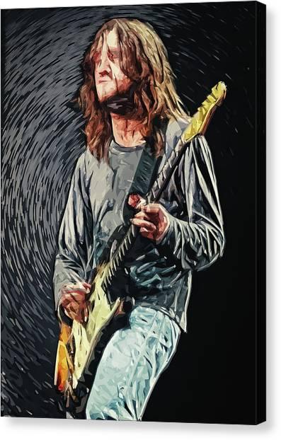 Pearl Jam Canvas Print - John Frusciante by Taylan Soyturk