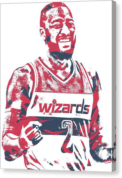 Washington Wizards Canvas Print - John Wall Washington Wizards Pixel Art 36 by Joe Hamilton