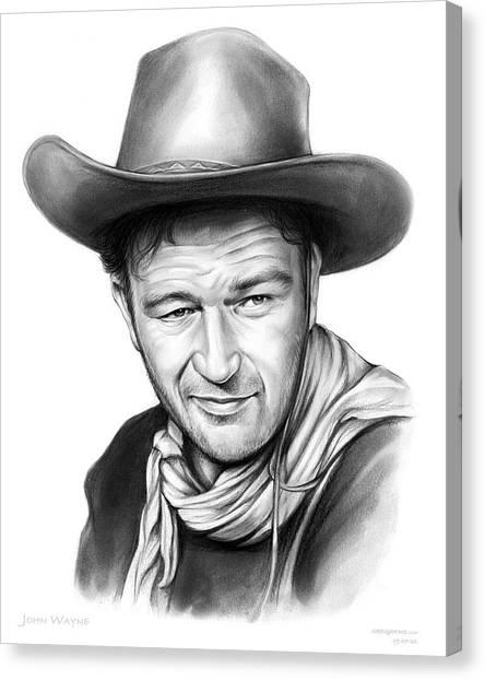 Cowboy Canvas Print - John Wayne by Greg Joens