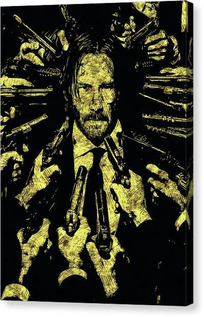 Keanu Reeves Canvas Print - John Wick by Dusan Naumovski