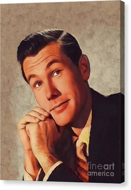 Johnny Carson Canvas Print - Johnny Carson, Vintage Entertainer by John Springfield