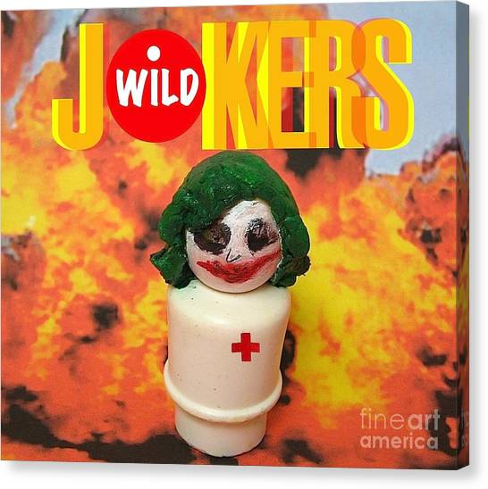 Heath Ledger Canvas Print - Jokers Wild by Ricky Sencion