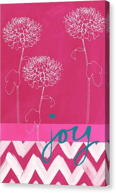 Pink Canvas Print - Joy by Linda Woods