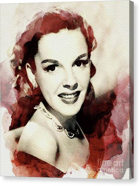 Stardom Canvas Print - Judy Garland, Vintage Actress by John Springfield