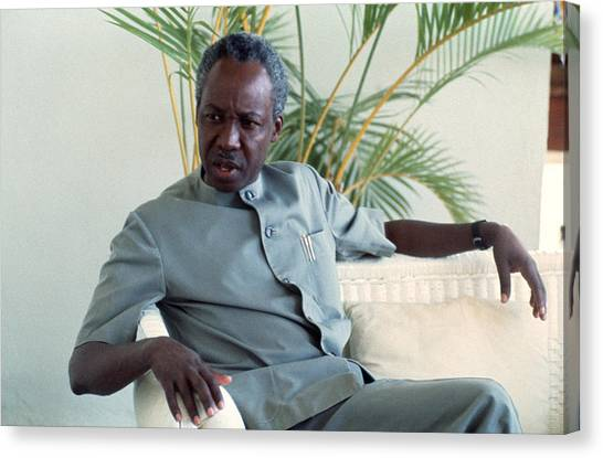 Julius Nyerere Canvas Print by Erik Falkensteen