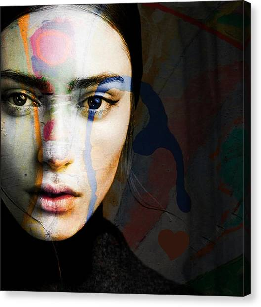 Lips Canvas Print - Just Like A Woman by Paul Lovering
